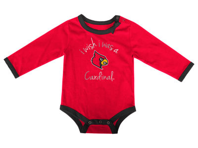 Louisville Cardinals NCAA Newborn I Wish Bow Creeper
