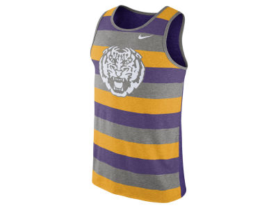 LSU Tigers Nike NCAA Men's Stadium Team First Striped Tank
