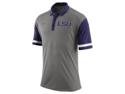 LSU Tigers Nike NCAA Men's Stadium Team First Stripe Polo Shirt
