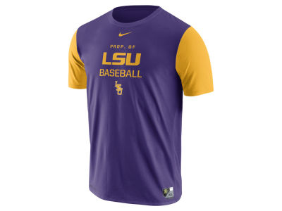 LSU Tigers Nike NCAA Men's Baseball Dri-Fit Cotton T-Shirt