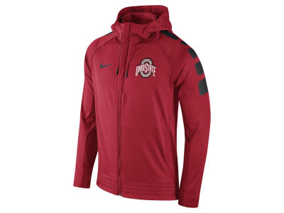 Ohio State Buckeyes Nike NCAA Men's Elite Stripe Basketball Performance Full Zip Hoodie