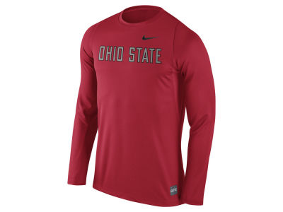 Ohio State Buckeyes Nike NCAA Men's Elite Basketball Long Sleeve Shooter T-Shirt