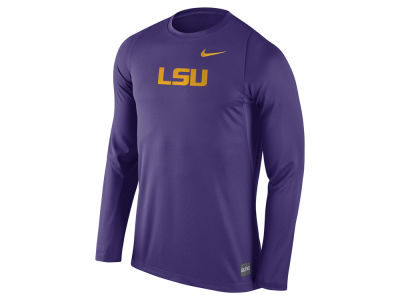 LSU Tigers Nike NCAA Men's Elite Basketball Long Sleeve Shooter T-Shirt