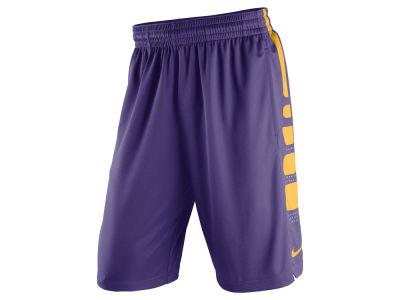 LSU Tigers Nike NCAA Men's Practice Elite Basketball Stripe Shorts