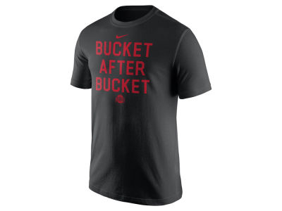 Ohio State Buckeyes Nike NCAA Men's Basketball Buckets Verbiage T-Shirt