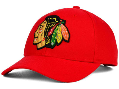 Chicago Blackhawks Reebok NHL 2015 Structured Adjustable Cap