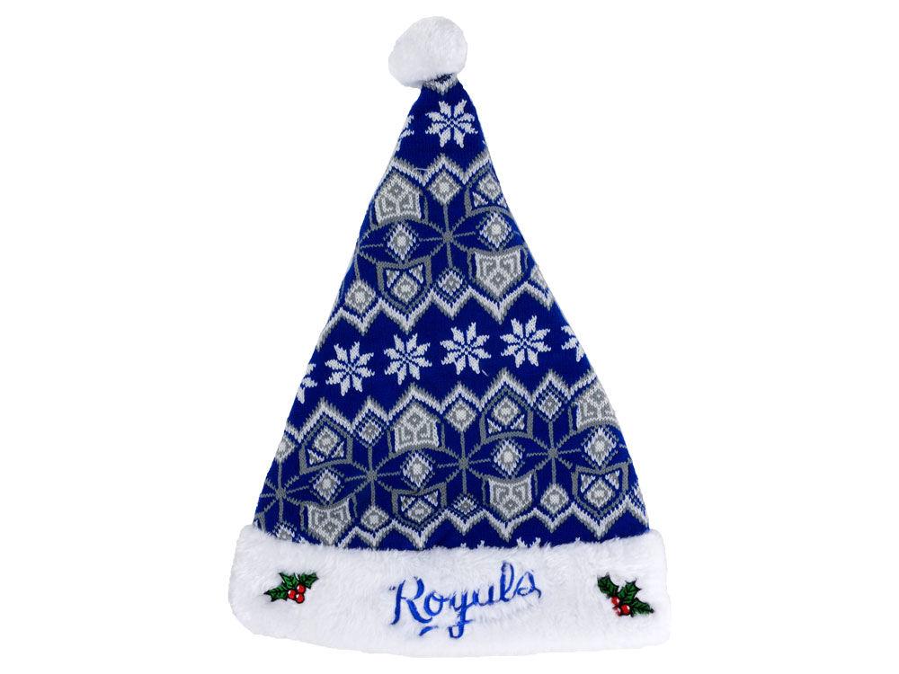 Kansas City Royals Knit Sweater Santa Hat | lids.com