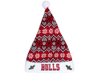Chicago Bulls Knit Sweater Santa Hat