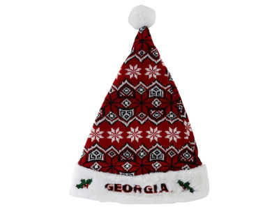 Georgia Bulldogs Knit Sweater Santa Hat