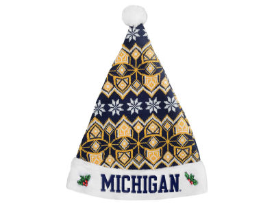 Michigan Wolverines Knit Sweater Santa Hat