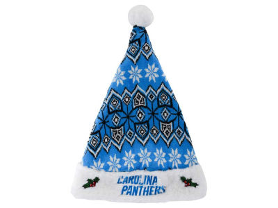 Carolina Panthers Knit Sweater Santa Hat