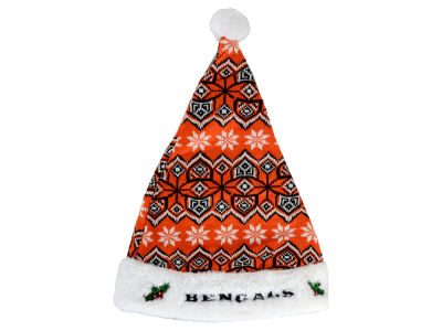 Cincinnati Bengals Knit Sweater Santa Hat