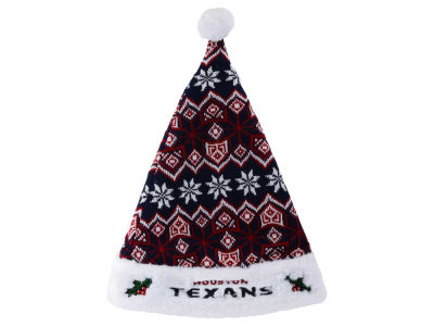 Houston Texans Knit Sweater Santa Hat