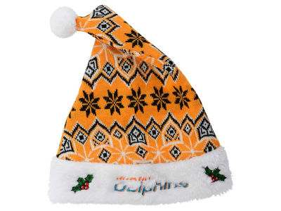 Miami Dolphins Knit Sweater Santa Hat