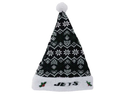 New York Jets Knit Sweater Santa Hat