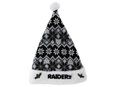 Oakland Raiders Knit Sweater Santa Hat