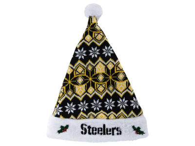 Pittsburgh Steelers Knit Sweater Santa Hat