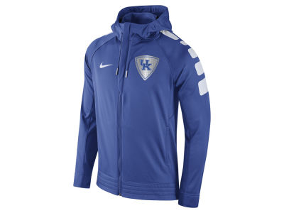 Kentucky Wildcats Nike NCAA Men's Elite Stripe Basketball Performance Full Zip Hoodie
