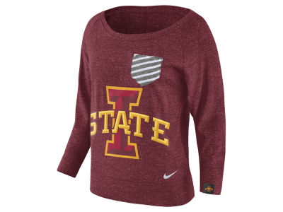Iowa State Cyclones Nike NCAA Women's Gym Vintage Pocket Crew Fleece