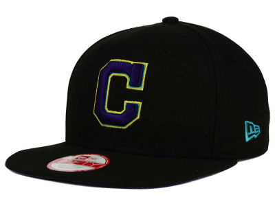 Cleveland Indians New Era MLB Aqua Hook Basic 9FIFTY Snapback Cap