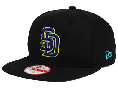 San Diego Padres New Era MLB Aqua Hook Basic 9FIFTY Snapback Cap