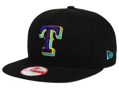 Texas Rangers New Era MLB Aqua Hook Basic 9FIFTY Snapback Cap