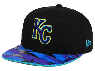 Kansas City Royals New Era MLB Aqua Hook Vize 9FIFTY Snapback Cap