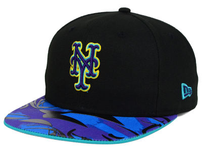 New York Mets New Era MLB Aqua Hook Vize 9FIFTY Snapback Cap