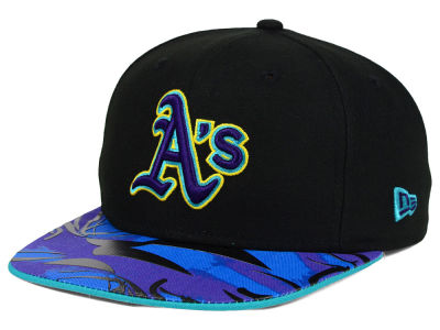 Oakland Athletics New Era MLB Aqua Hook Vize 9FIFTY Snapback Cap