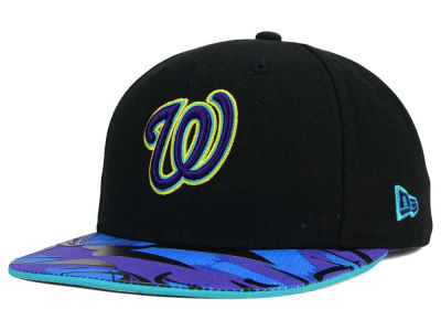 Washington Nationals New Era MLB Aqua Hook Vize 9FIFTY Snapback Cap