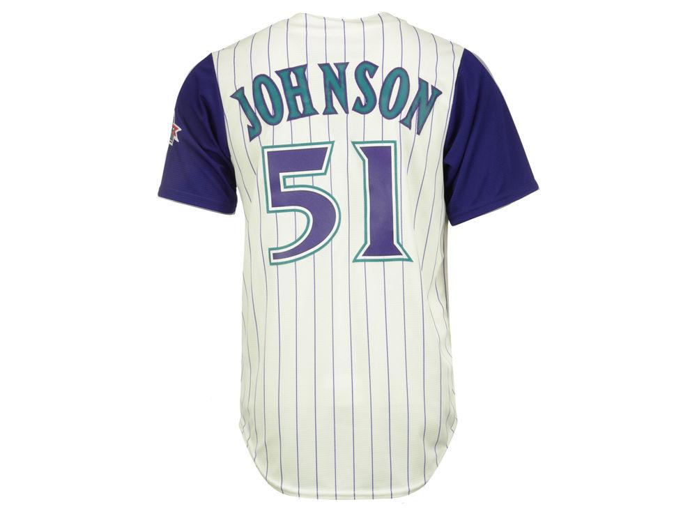 557cd0f20 ... Arizona Diamondbacks Randy Johnson Majestic MLB Mens Hall Of Fame Patch  CB Jersey Mens Arizona Diamondbacks Randy Johnson 51 White Cool Base ...