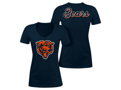 Chicago Bears 5th & Ocean NFL Women's Blitz V-Neck T-Shirt