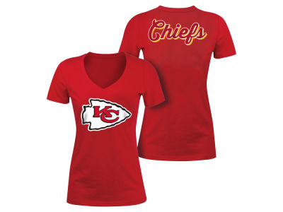 Kansas City Chiefs 5th & Ocean NFL Women's Blitz V-Neck T-Shirt