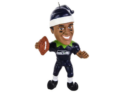 Seattle Seahawks Russell Wilson Player Elf Ornament