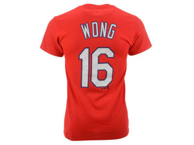 St. Louis Cardinals Kolten Wong Majestic MLB Youth Official Player T-Shirt