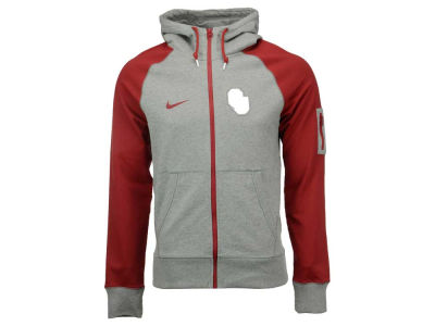Oklahoma Sooners Nike NCAA Men's Stadium Team First Light Weight Full Zip Hoodie