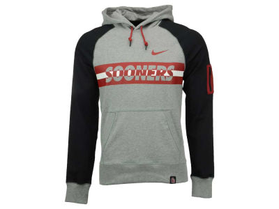 Oklahoma Sooners Nike NCAA Men's Stadium Team First Light Weight Pullover Hoodie