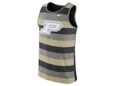 Purdue Boilermakers Nike NCAA Men's Stadium Team First Striped Tank