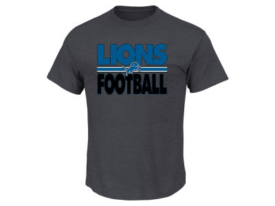 Detroit Lions NFL Men's Cover 2 Triple Peak T-Shirt