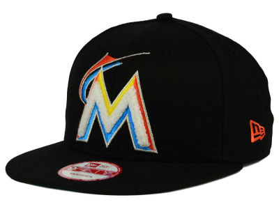 Miami Marlins New Era MLB The Letter Man 9FIFTY Snapback Cap