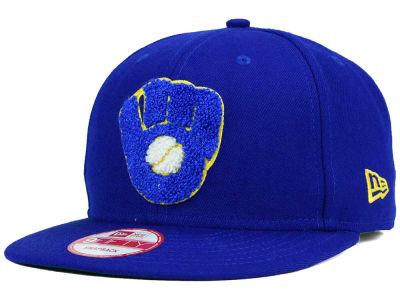 Milwaukee Brewers New Era MLB The Letter Man 9FIFTY Snapback Cap