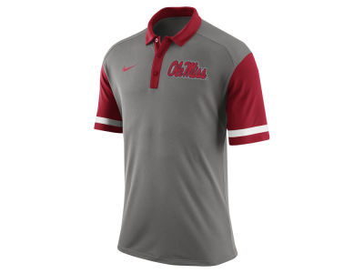 Ole Miss Rebels Nike NCAA Men's Stadium Team First Stripe Polo Shirt