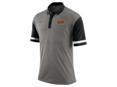 Oklahoma State Cowboys Nike NCAA Men's Stadium Team First Stripe Polo Shirt
