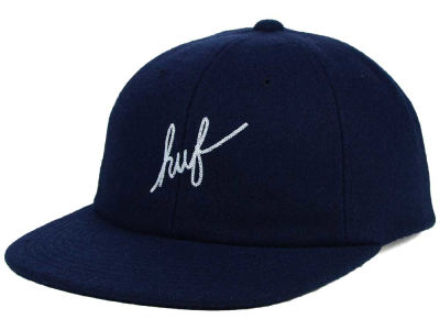 Huf Wool Script 6 Panel Strapback Hat