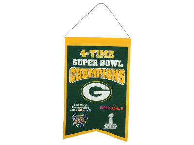 Green Bay Packers Winning Streak 14x22 Champions Banner