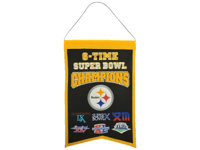 Pittsburgh Steelers 14x22 Champions Banner