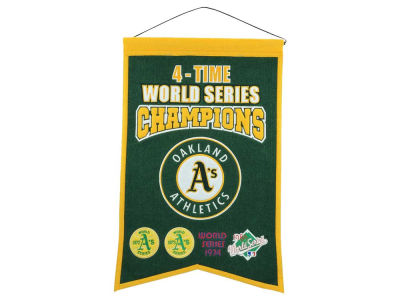 Oakland Athletics Winning Streak 14x22 Champions Banner