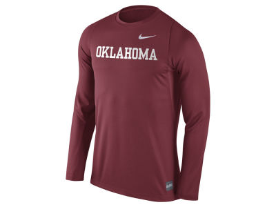 Oklahoma Sooners Nike NCAA Men's Elite Basketball Long Sleeve Shooter T-Shirt