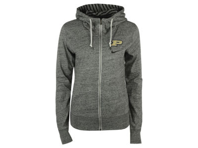 Purdue Boilermakers Nike NCAA Women's Gym Vintage Light Weight Full Zip Hoodie