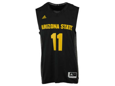 Arizona State Sun Devils #11 adidas NCAA Men's Iced Out Replica Basketball Jersey